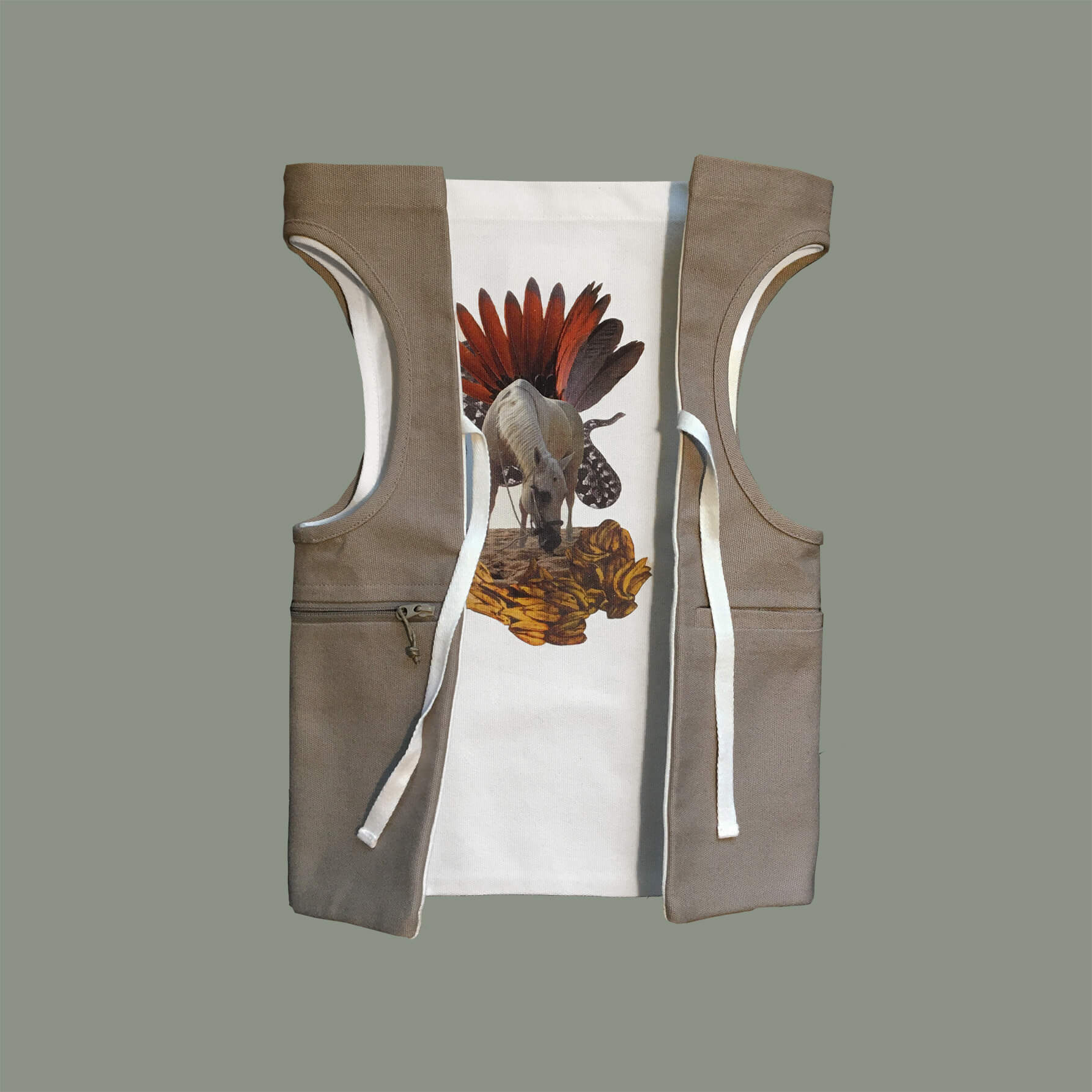 Nature vest backpack inside